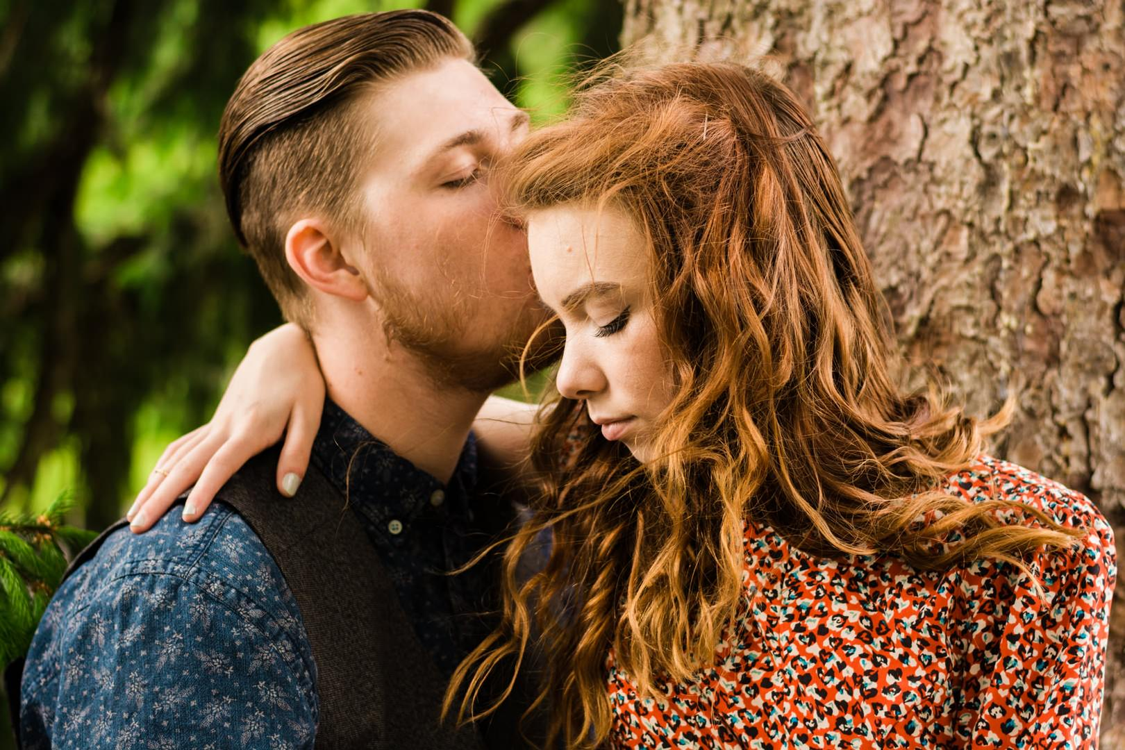 For support. redhead making out