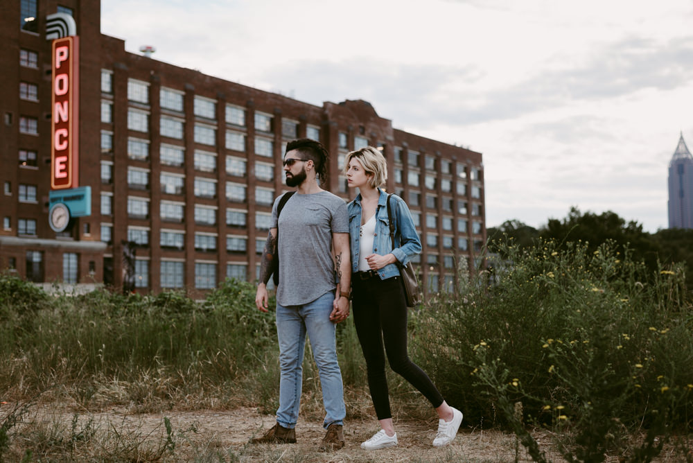 hip-cool-hot-model-couple-madewell-free-people-forever-21-topshop-sperry-urban-outfitters-marc-jacobs-ponce-city-market-beltline-kelly-baysinger-adam-tuminaro-atlanta-wedding-photographer