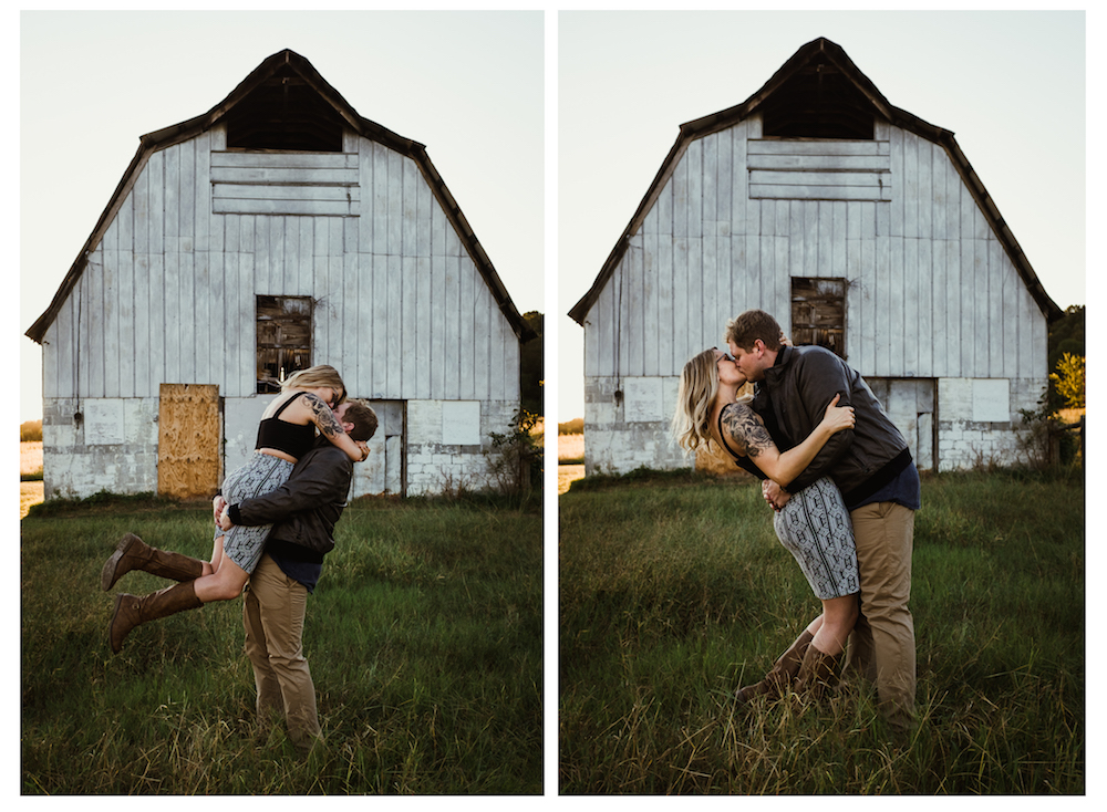 rustic-couple-dip-kiss-cute-barn-forever-21-river-west-arabia-mountain-atlanta-georgia-wedding-photographer