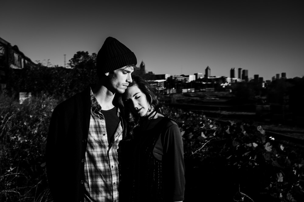 beautiful-moody-city-skyline-fashion-model-couple-geordan-newsome-dillan-moore-goat-farm-atlanta-georgia-wedding-photographer