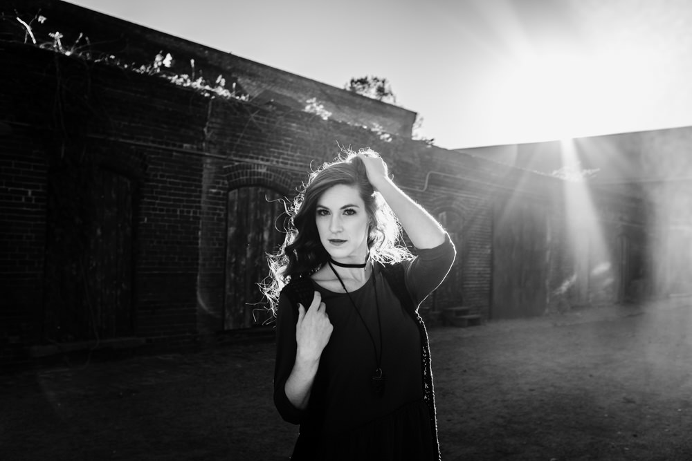 sun-flare-abandoned-building-fashion-model-geordan-newsome-goat-farm-atlanta-georgia-wedding-photographer
