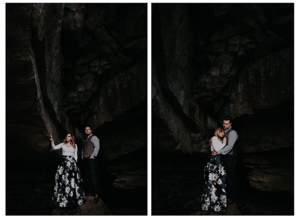 amazing-beautiful-rock-cave-portrait-hug-charlotte-russe-banana-republic-american-eagle-outdoor-couples-photo-shoot-cloudland-canyon-cody-bre-stephens-atlanta-georgia-photographer