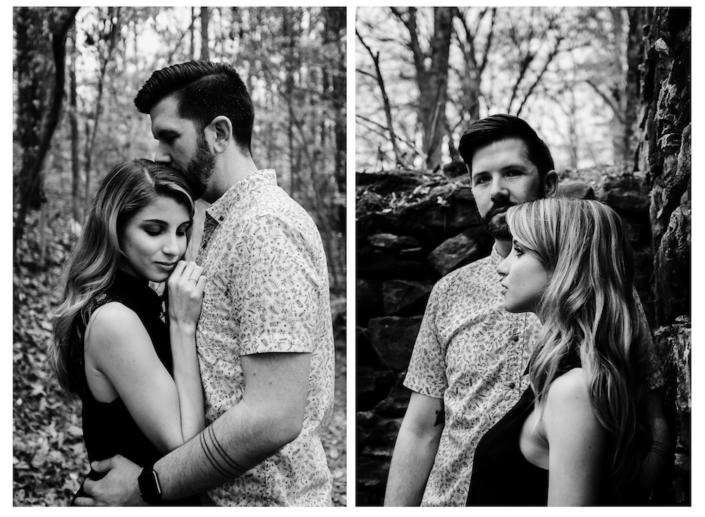 cute-couple-hug-pose-outdoor-photo-shoot-woods-forest-sarah-tyler-hander-sope-creek-atlanta-georgia-photographer