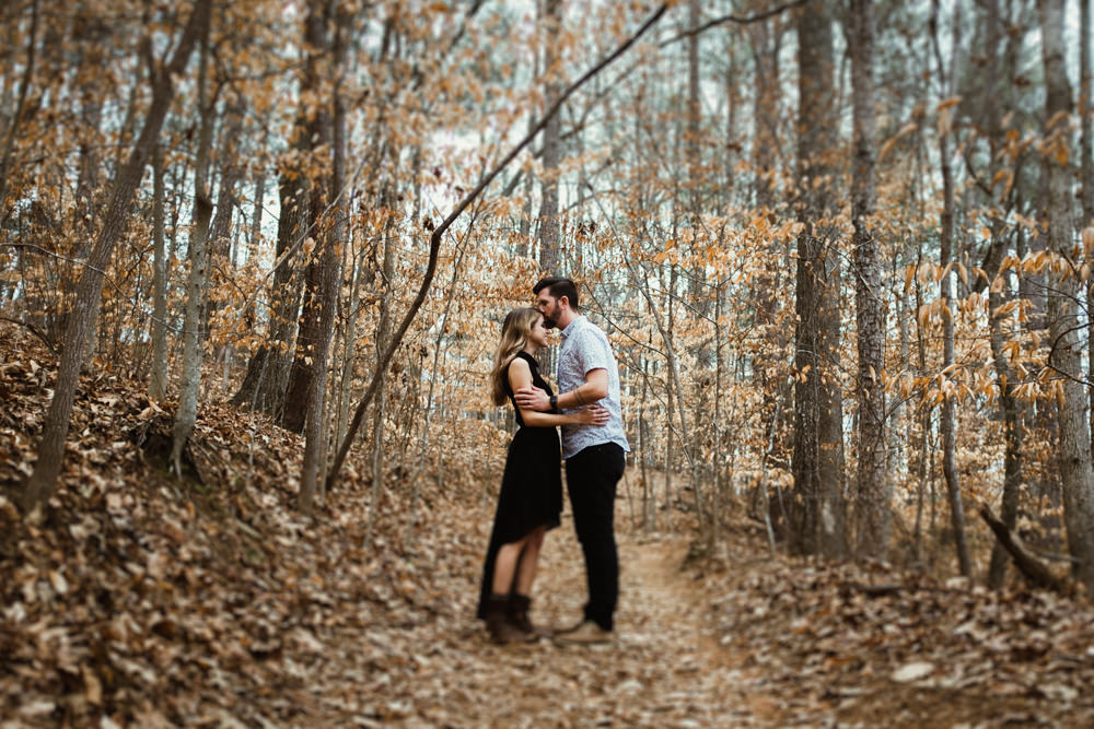 Cute Couple Trail Woods Forest Sarah Tyler Hander Sope