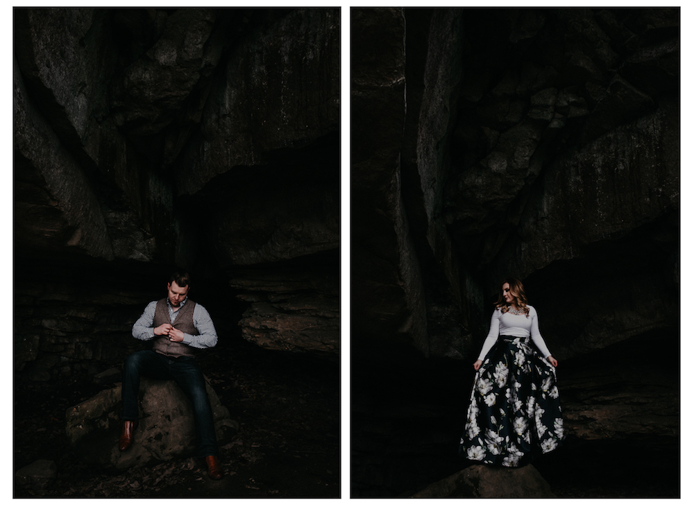 handsome-groom-beautiful-bride-rock-cave-charlotte-russe-banana-republic-american-eagle-outdoor-couples-photo-shoot-cloudland-canyon-cody-bre-stephens-atlanta-georgia-photographer