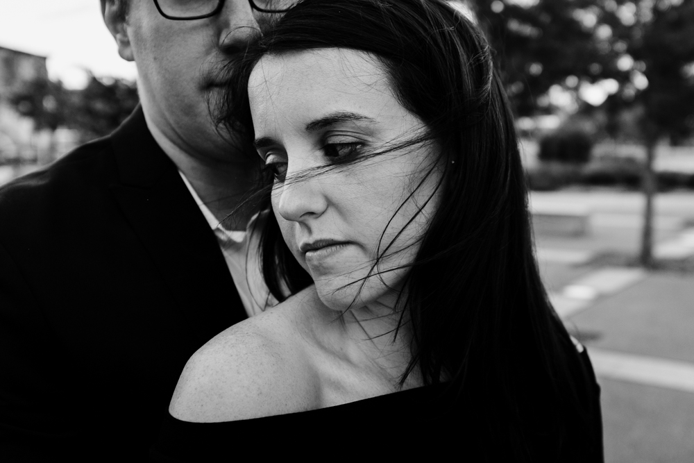 beautiful-black-white-close-intimdate-couple-maggie-wolicki-lang-burghardt-engagement-photos-atlanta-wedding-old-fourth-ward-park