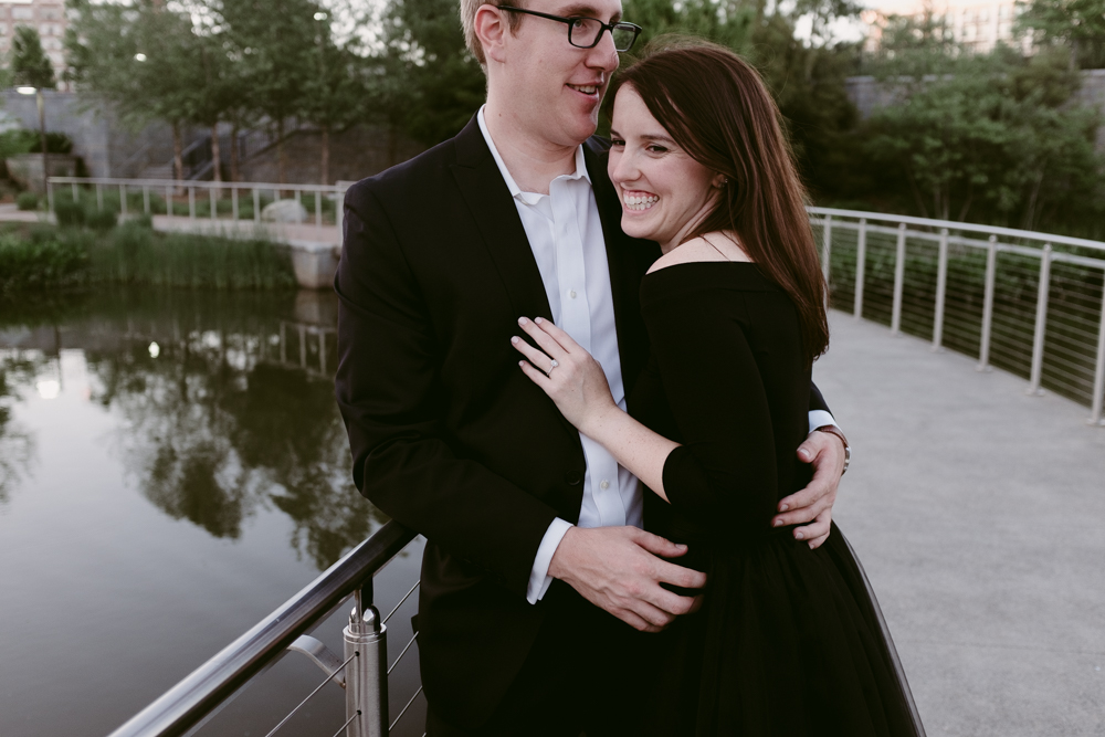 cute-couple-stylish-bridge-maggie-wolicki-lang-burghardt-engagement-photos-atlanta-wedding-old-fourth-ward-park