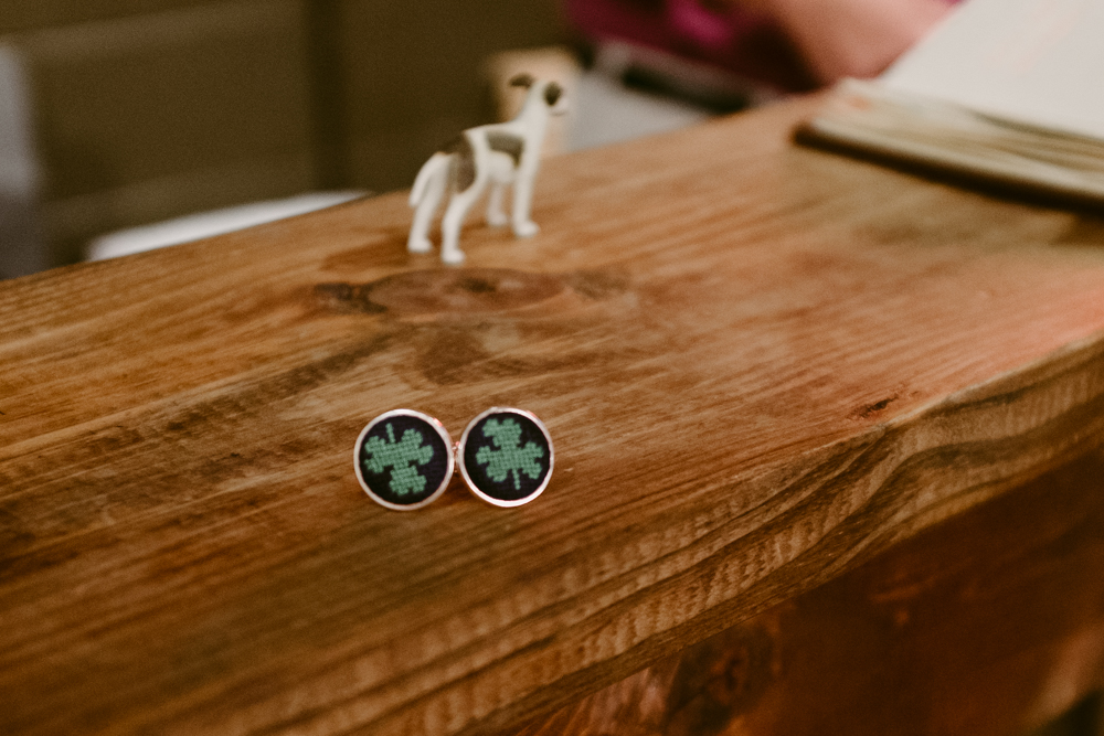 lucky-shamrock-cuff-links-maggie-wolicki-lang-burghardt-engagement-photos-atlanta-wedding-ponce-city-market