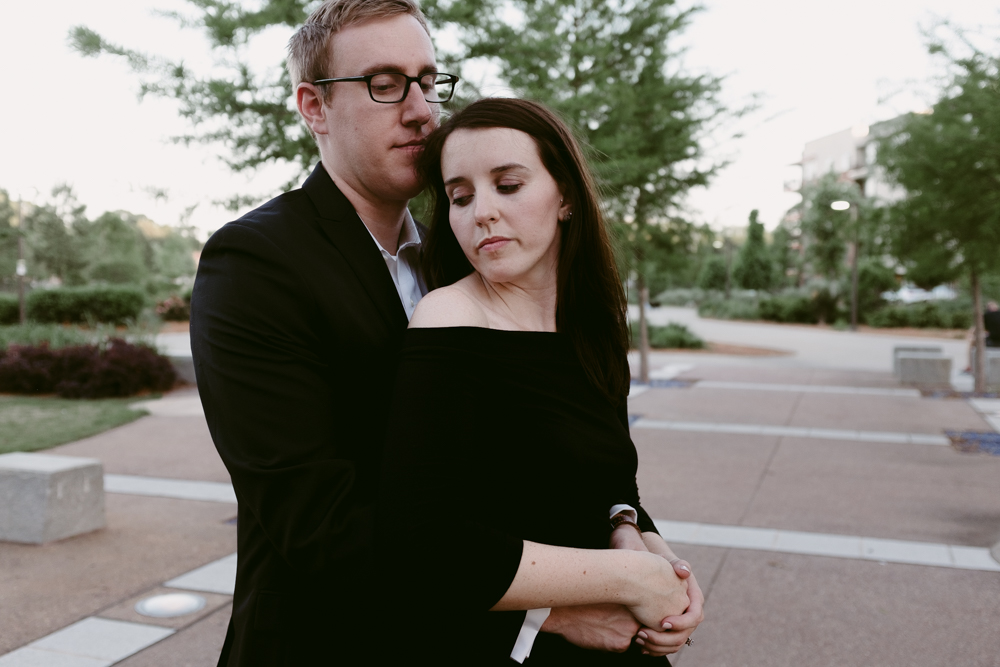 quiet-beautiful-moment-stylish-couple-maggie-wolicki-lang-burghardt-engagement-photos-atlanta-wedding-old-fourth-ward-park