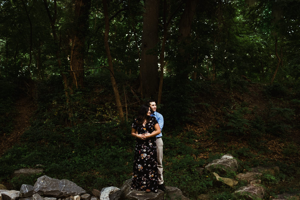 nisha-gajjar-charlie-chuck-beard-beltline-piedmont-park-atlanta-wedding-photographer-woods-rocks-couple-engagement